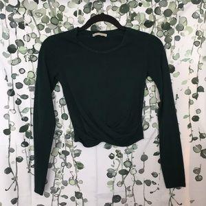 Zara Long Sleeve Twist Crop Top